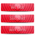 Happy Valentines Day web banners vector image vector image