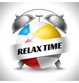 Relax time vector image vector image