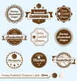 Fantasy Basketball Labels vector image