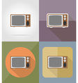 cinema flat icons 13 vector image