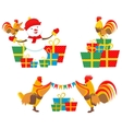 Rooster New Year vector image