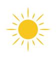 Sun icon Light sign sunbeams yellow design element vector image