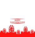 valentine gift stand vector image
