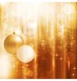 Golden sparkling Christmas card vector image