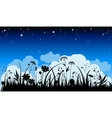 Summer night background vector image