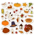 Happy Thanksgiving Day set vector image