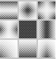 Set monochrome square pattern designs vector image