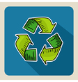 Hand drawn green recycle symbol vector image vector image