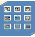 Icon set of themea photobook vector image