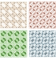 Set of seamless retro geometric vector image vector image