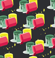 seamless pattern of paint cans vector image