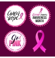 Breast Cancer Awareness Calligraphy Badges vector image