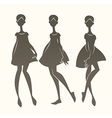 cartoon fashion vector image