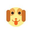 dog cartoon animal head vector image