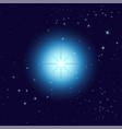 glowing light bursts on dark background star vector image