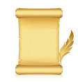 Gold scroll feather vector image