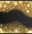 golden sparkles drop background vector image
