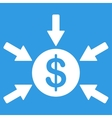 Income icon from Business Bicolor Set vector image