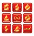 New Year Xmas Icon set vector image