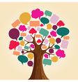 Social media network communication tree vector image