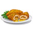 chicken kiev cutlets vector image