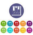 measuring cup icons set flat vector image