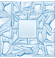 frame with blue ice seamless pattern vector image