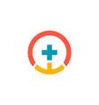 cross medic pharmacy logo vector image
