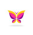Colorfuk butterfly logo vector image