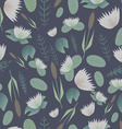 Lake plants flora pattern background vector image