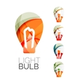 Set of abstract light bulb icons business vector image