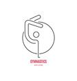 Gymnast Logo vector image