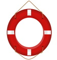 red lifesaver vector image vector image
