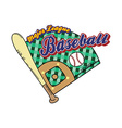 baseball league sport theme vector image