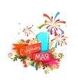 Happy Holidays First May vector image