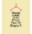 Fashion women dress from quote vector image