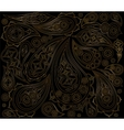 Black gold indian pattern Ornament arabic vector image