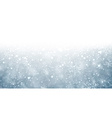 Christmas blue background with snow vector image