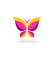Colorfuk butterfly logo vector image