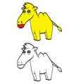 Cute cartoon camel vector image