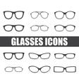 glasses set vector image