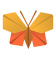 origami butterfly icon cartoon style vector image