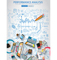 Performance Analysis concet with Doodle design vector image