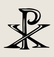 px symbol of the lord jesus vector image