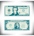 two us bills greatly simplified and stylized vector image