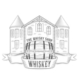 Vintage Whiskey Shop vector image