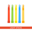 emergency light stick vector image