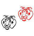 tiger mascots vector image vector image