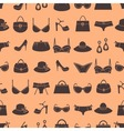 fashion accessories pattern vector image