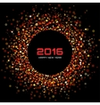 Red Bright New Year 2016 Background vector image